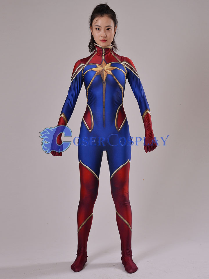 2018 Captain Marvel Carol Danvers Cosplay Costume
